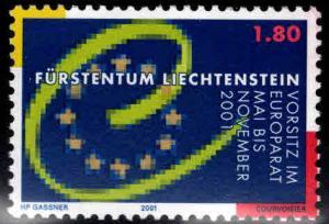 LIECHTENSTEIN Scott 1200 MNH** Council of Europe 2001
