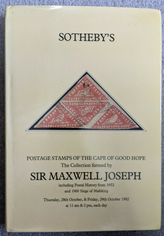 Auction Catalogue MAXWELL JOSEPH CAPE OF GOOD HOPE with Prices Realised CGH