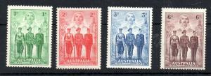 Australia 1940 Imperial Forces mint LHM set #196-199 WS13959