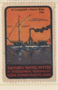 Germany History of Ships #20 Steam Powered Ship 1789 NG Artist F. Seck