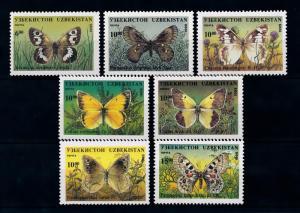 [40340] Uzbekistan 1995 Butterflies Schmetterlingen Papillons  MNH