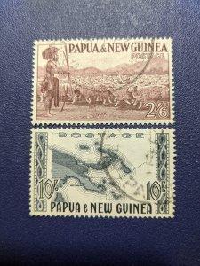 Papua and New Guinea 134-5 VF, CV $16.75