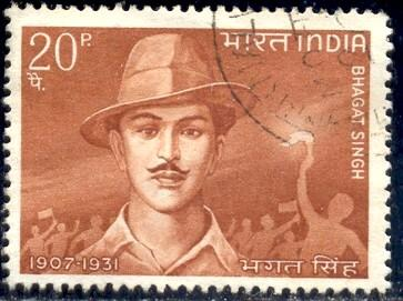 Revolutionary, Bhagat Singh, India stamp SC#473 used