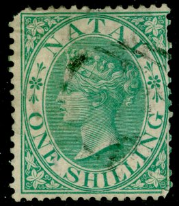 SOUTH AFRICA - Natal SG25, 1s green, USED. Cat £50. WMK CC