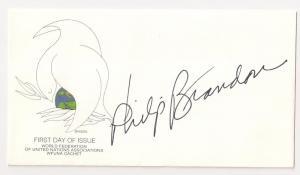 UN WFUNA cachet signed by Artist Philip Brandon plus extra c