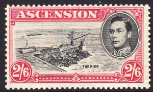 1938 - 1953 Ascension KGVI The Pier 2/6 issue MNH Sc# 47a $47.50 perf 13½