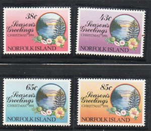 Norfolk Island Sc 510-13 1991 Christmas stamp set mint NH