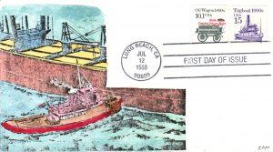 #2260 Tugboat 1900s Meissner FDC