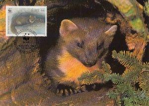Ireland 1992 Maxicard Sc #870 44p Pine martens WWF