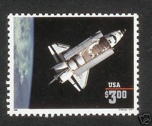 US Scott # 2544 $3. Shuttle Priority Single MNH
