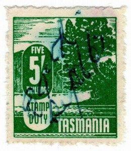 (I.B) Australia - Tasmania Revenue : Stamp Duty 5/-
