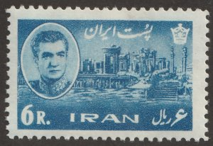 Persian/Iran stamp, Scott# 1338, MNH, 6R, blue,1965 year, #K-8
