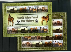 MALAWI 2003 WILD ANIMALS 2 SHEETS OF 8 & 16 STAMPS MNH