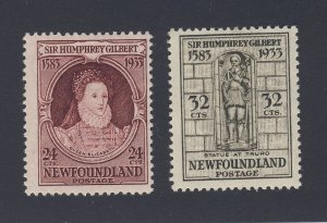 2x Newfoundland Stamps #224-24c MH F/VF & #225-32c MH VF Guide Value = $63.00