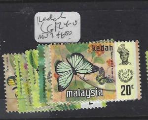 MALAYA KEDAH  (P0509B)  BUTTERFLY  SG 124-130  MOG