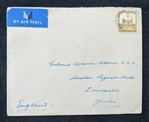 1935 Palestine Airmail Cover to York England