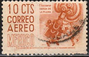 MEXICO C209, 10cts 1950 Definitive 2nd Printing wmk 300 HORIZ, USED. F-VF (953)