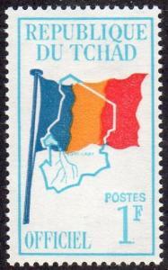 Chad O1 - Mint-NH - 1fr Flag / Map (1966)