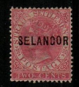 Malaya-Selangor Scott 7 Used (Catalog Value $125.00)