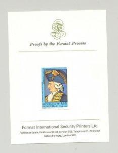 Honduras #C700 Military Uniforms, Higgins 1v Imperf Proof on Printer's Card