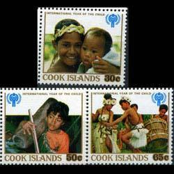 COOK IS. 1979 - Scott# 529-31 Children Year Set of 3 LH