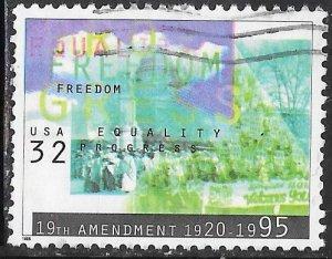 US 2980 Used - 19th Amendment - Woman's Suffrage