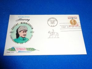 FLEUGEL MULTI COLORED CACHET FDC:  US SCOTT#  1166