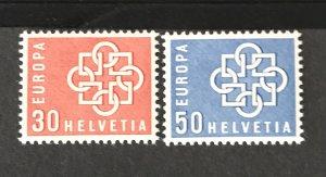 Switzerland 1959 #374-75, MNH, CV $4.35
