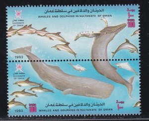 Oman # 363a, Whales & Dolphins, NH, 1/2 Cat.