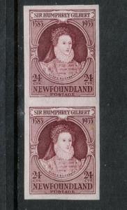 Newfoundland #224a Extra Fine Never Hinged Imperf Pair **With Certificate**
