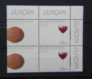 Croatia 2005 Europa Gastronomy set in Blocks x 4 (2 sets) MNH