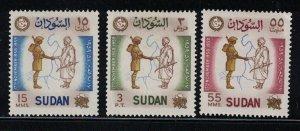 Sudan # 124-126  1959   MH    SCV $ 1.90