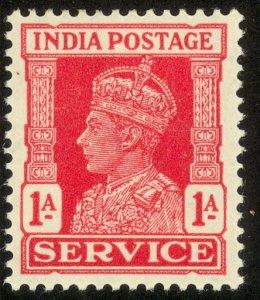 INDIA 1939-43 KGVI 1a Official Sc O108 MH