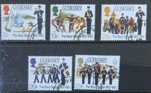 GUERNSEY 1982 BOYS BRIGADE  SET SG268/272  USED