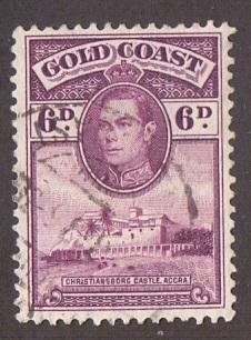 Gold Coast  1938   used  121     6 d..    #