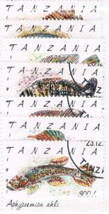 Tanzania 816-22 Set Used Fish (T0010)