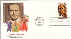 1984, Douglas Fairbanks, Fleetwood, Unaddressed, FDC (D8821)