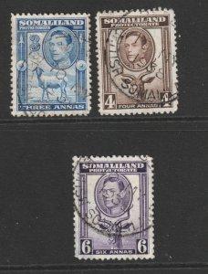 Somaliland Prot. x 3 used better values KGVI era
