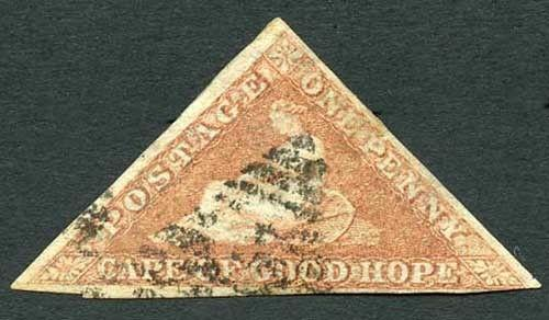 COGH SG3 1d Deep Brick-Red Slightly Blued Paper PB Printing Cat 450 pounds