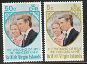 Virgin Islands  Scott 260-261 1973 Wedding set MH*
