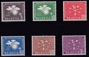 Switzerland 1956 World Meteorological Organization (6) Basic Set  XF/NH