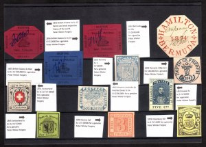 World's Most Valuable stamps, Peter Winter Forgeries, Good Quality, Check photos