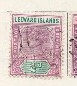 Leeward Islands 1890 Early Issue Fine Used 1/2d. 269631
