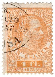 (I.B) Austria Telegraphs : State Telegram 1fl (1873)