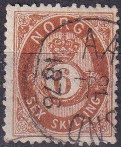 Norway #20 F-VF Used CV $72.50 (Z9596)