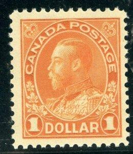 CANADA SCOTT#122 KING GEO V $1 MINT HINGED F/VF ---SCOTT $240.00