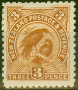 New Zealand 1900 3d Yellow-Brown SG261 Fine & Fresh Mtd Mint