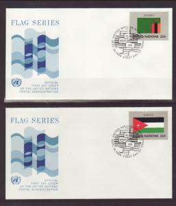 UN New York 477-492 Flags 1986 Geneva S/16 U/A FDC