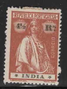 Portuguese India Scott 362 MH* Ceres stamp with hinge remnant