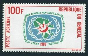 Senegal C69,MNH.Michel 399. Year of African Tourism,1969.Emblem,map of Africa.